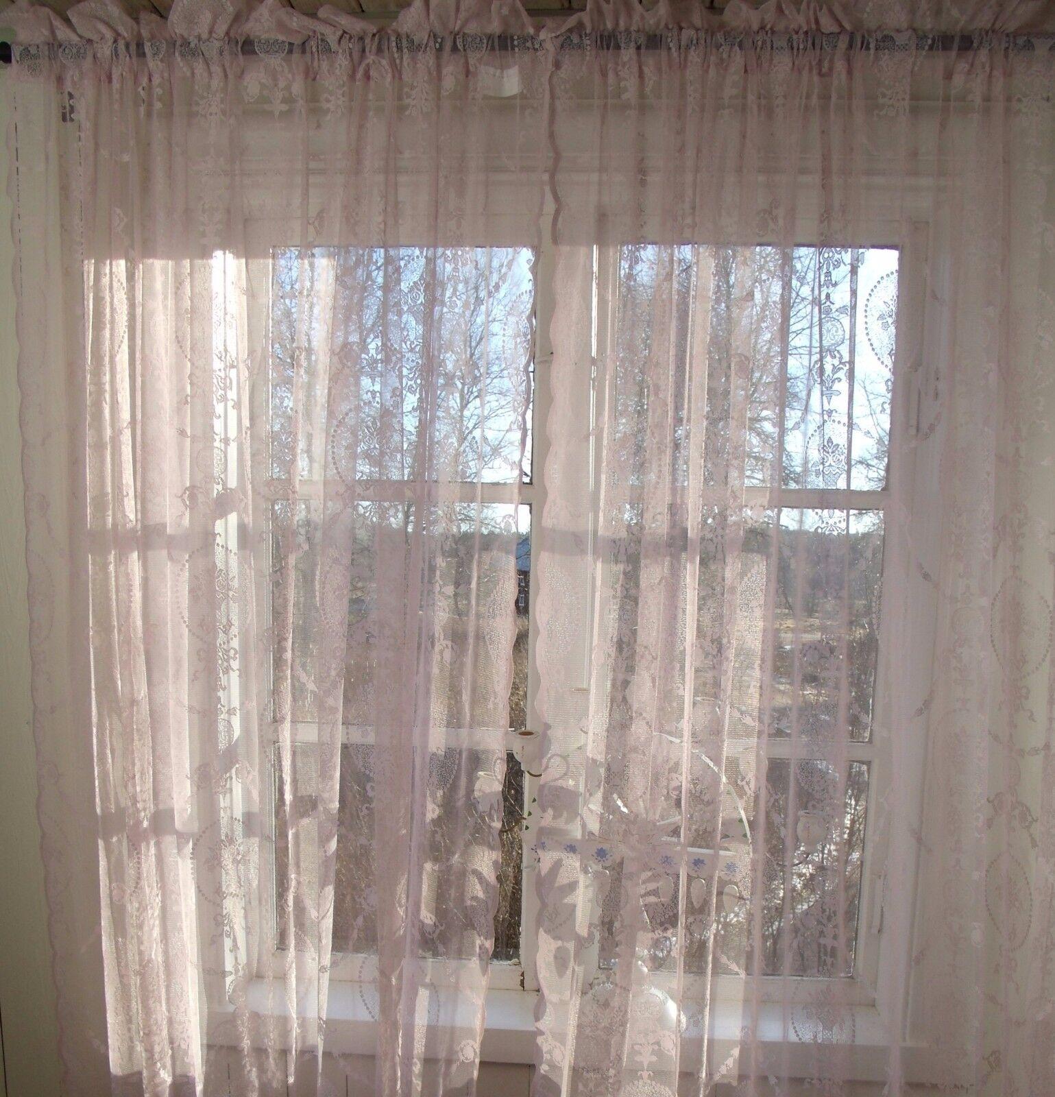 vorhang avery altrosa spitzen gardine 2 x 140x240 lillabelle romantik vintage eur 46 95. Black Bedroom Furniture Sets. Home Design Ideas