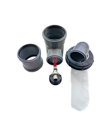 Set Downpipe Storage Rain Gauge Dn 110/75 Outlet Tap Ibc Cover Filter 225 Arch