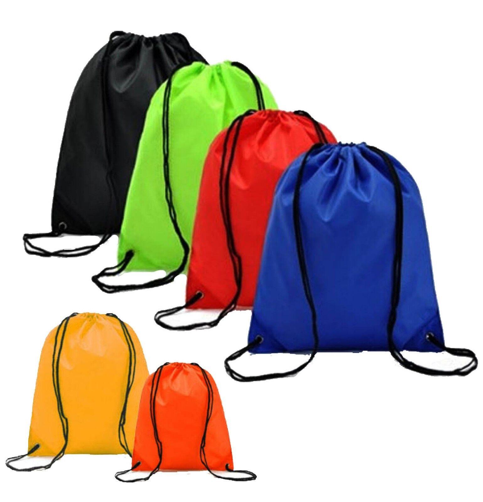 "Drawstring Unisex Backpack 20"" x 17"" Tote Sock Sack Pack Nyl"