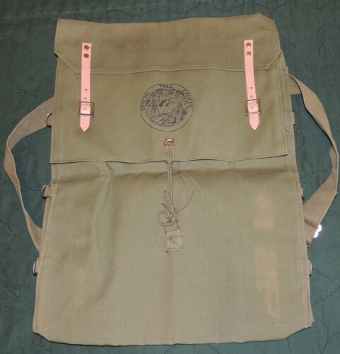 Vintage CANVAS Boy Scouts Hiking Backpack OFFICIAL TRAIL CAMPER Unissued
