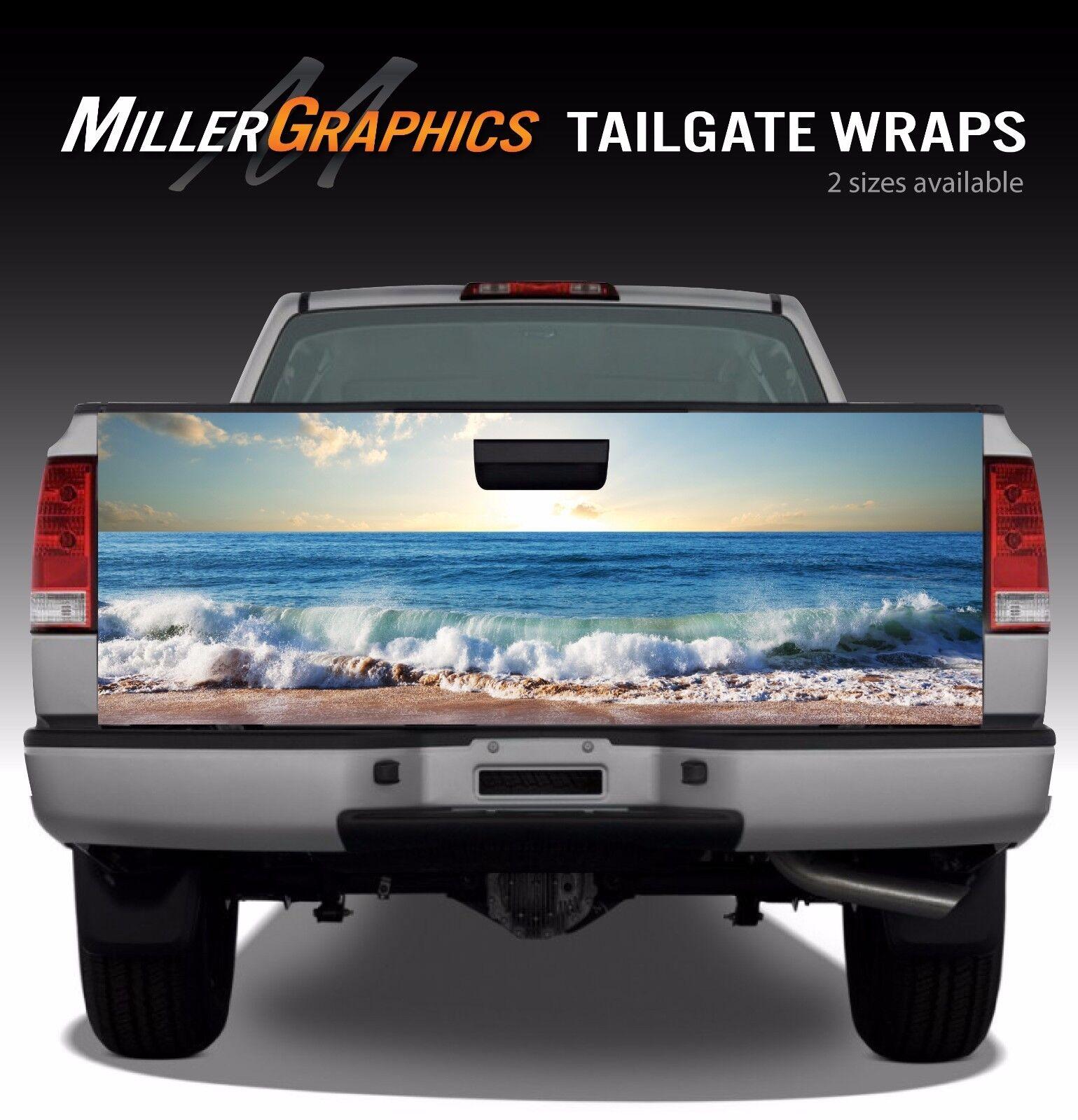 Beach Ocean Waves Truck Tailgate Vinyl Graphic Decal Wrap