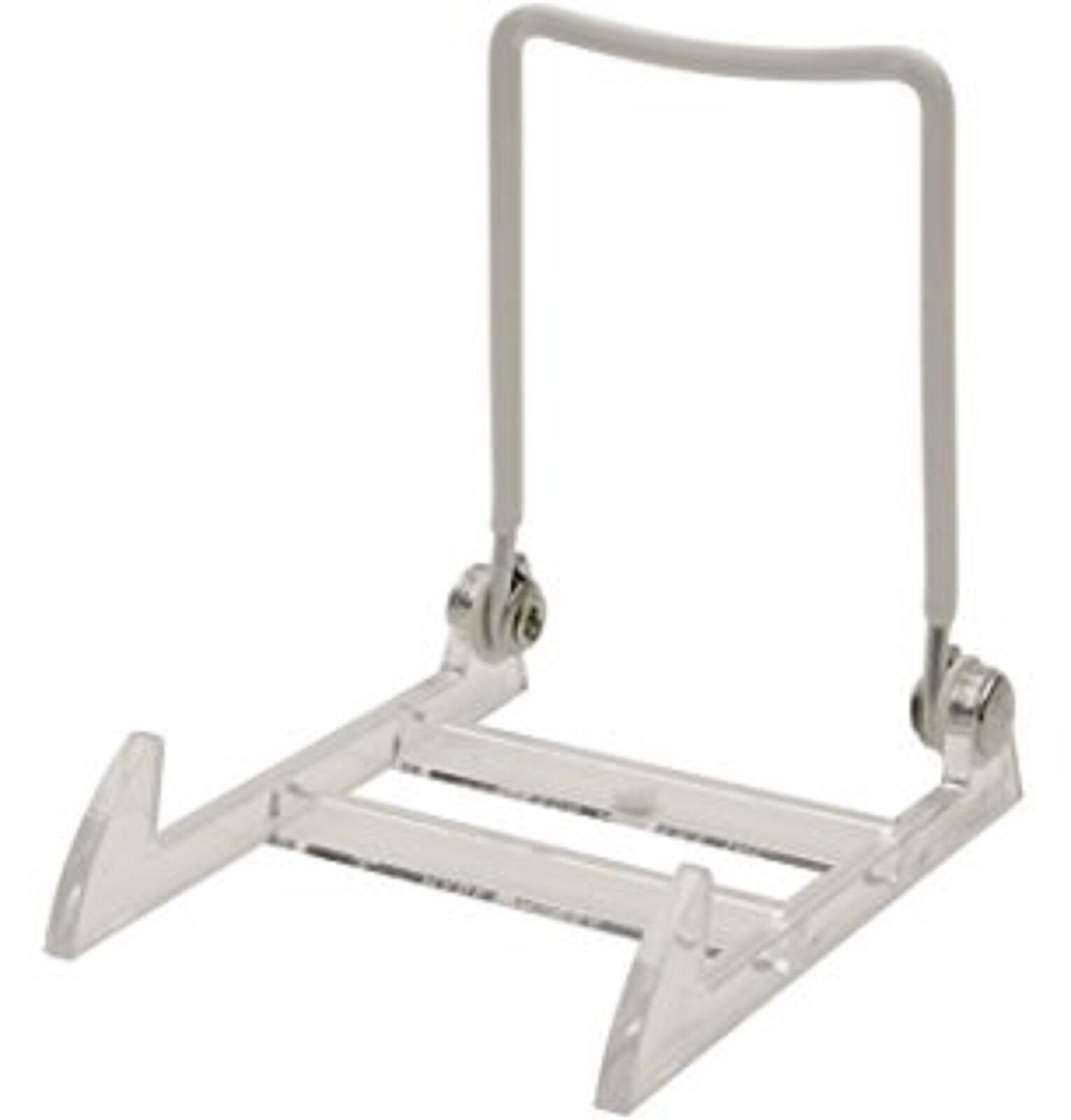 Gibson Holders 1PL Display Stand with Clear Base  White 12-P
