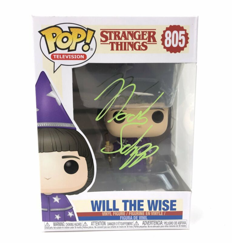 Noah Schnapp Autograph Funko Pop Stranger Things Will the Wise Signed JSA COA