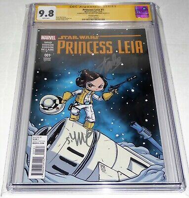 Princess Leia #1 CGC SS Dual Signature Autograph STAN LEE YOUNG Marvel 9.8 Var