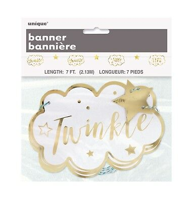 """Paper Banners (""""TWINKLE TWINKLE LITTLE STAR"""" Birthday Party Supplies Paper GARLAND BANNER 7)"""