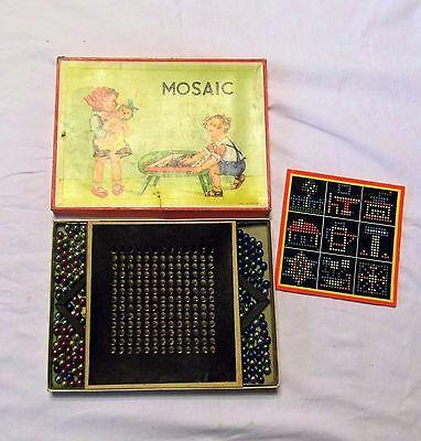 Altes Mosaic Spiel mit Murmeln aus den ca. 50er / 60er Jahren