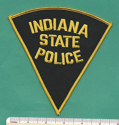 Indiana IN State Police Law Enforcement Trooper Triangle Patch - Black & Yellow
