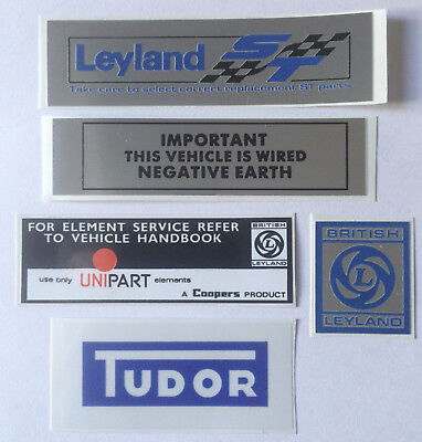 Classic Leyland Mini 1275GT Sticker Pack - Mini Clubman ST Special Tuning