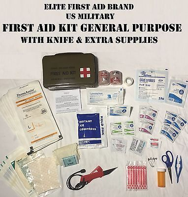 Elite First Aid Kit General Purpose Medical Survival Us Military Army Jeep Hmmwv