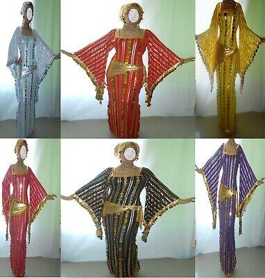 Performance Costume,Belly Dance,Saidi Galabeya,Egyptian Abaya,Oriental Dress S60