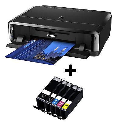 Canon Pixma iP7250 Colour Inkjet Photo Printer, Wi-Fi Photolab Usb & XL ink set