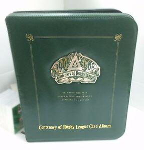 OFFICIAL NRL TRADING CARD ALBUM--2008 SELECT NRL CENTENARY ALBUM