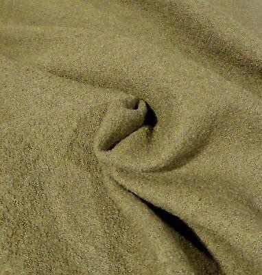 Olive Green Wool Crepe Suiting - Versatile, Elegant, Classic