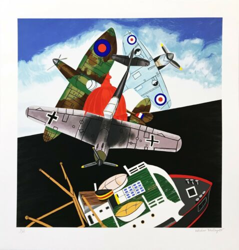 "Malcolm Morley ""battle Of Britain"" 2005 | Hand Signed Silkscreen | Make An Offer"