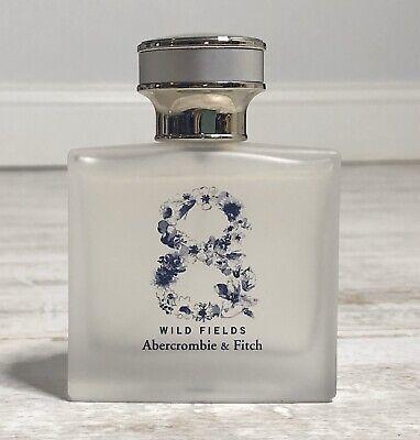 RARE Abercrombie & Fitch AF 8 Wild Fields Eau De Perfume 1.7 Oz / 50 mL 95% FULL
