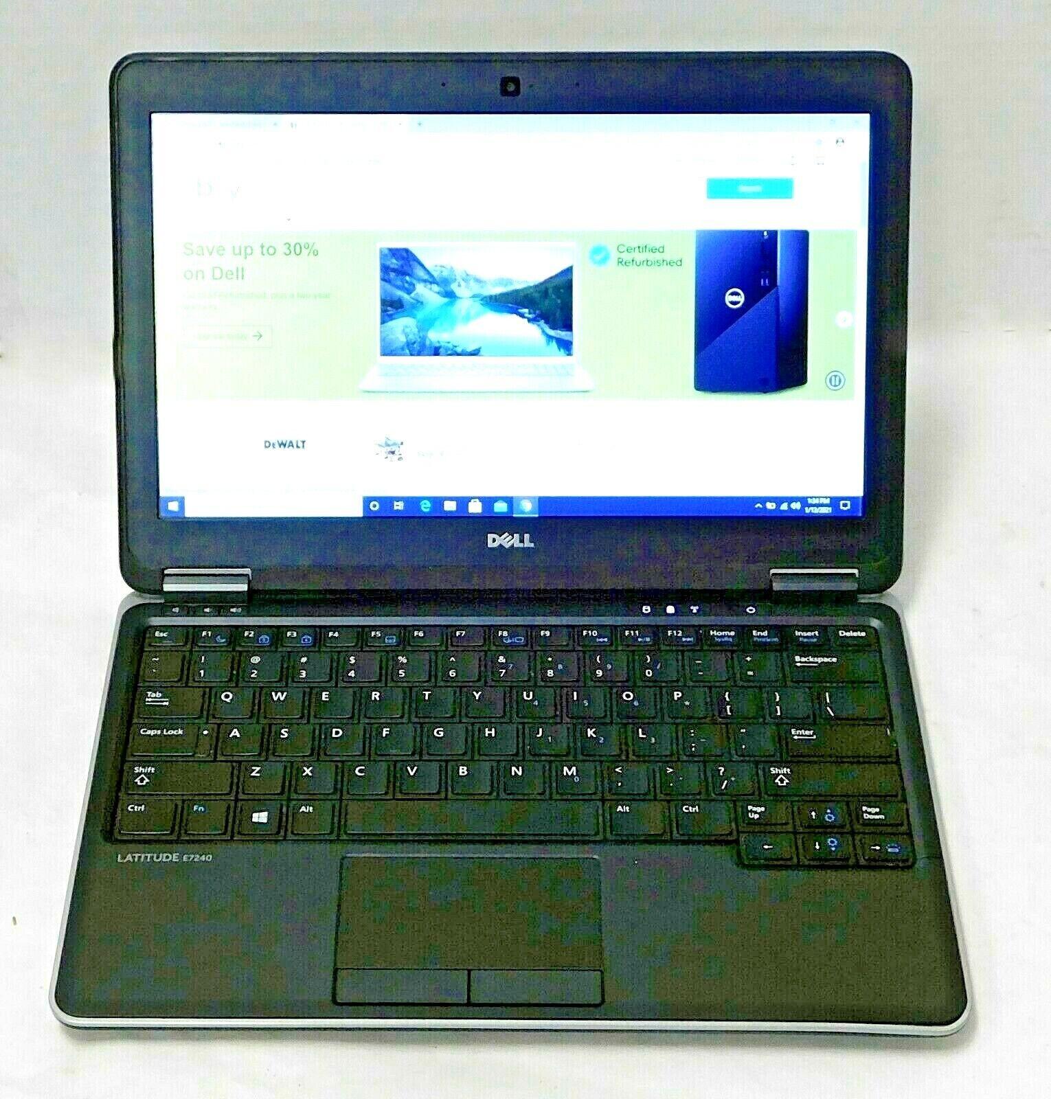 Laptop Windows - Dell Latitude E7240 - Intel Core i5,4th GEN, 4GB RAM, 128GB SSD, Windows 10