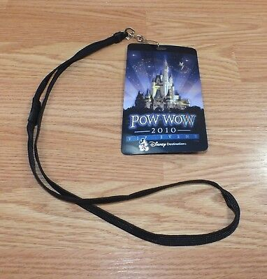 POW WOW 2010 VIP Event Disney Destinations Lenticular Pass Card & Lanyard *RARE*