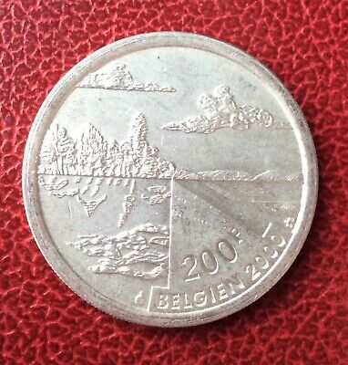 Belgique - Albert II - Rare Monnaie de 200 Francs  2000 DE - légende  Allemande