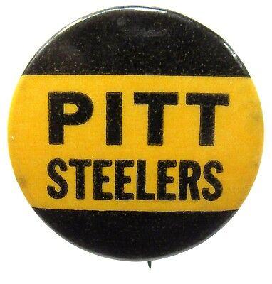 "Pittsburgh 1940's PITT STEELERS football 1.25"" celluloid pinback button"