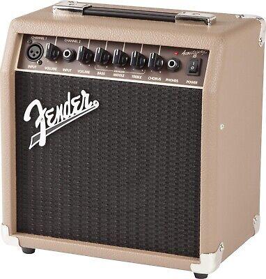 Fender Acoustasonic 15 15 Watt 2 Channel Acoustic Guitar Amp Amplifier NEW