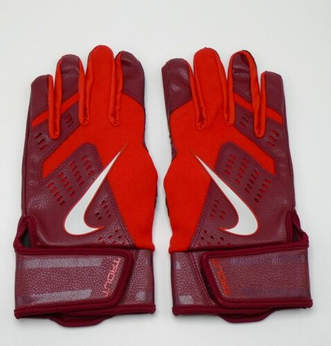 Nike Trout Force Edge Batting Gloves 2.0 Youth Medium Team Red/Chrome