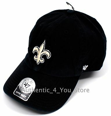 NEW Forty Seven '47 New Orleans Saints Baseball Hat NFL One Size Adjustable Cap