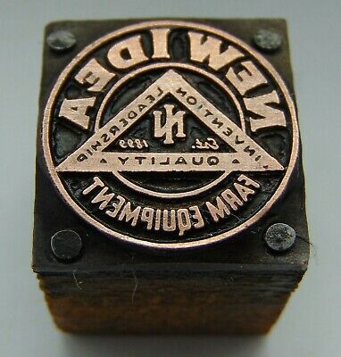 Vintage Printing Letterpress Printers Block New Idea Farm Equipment