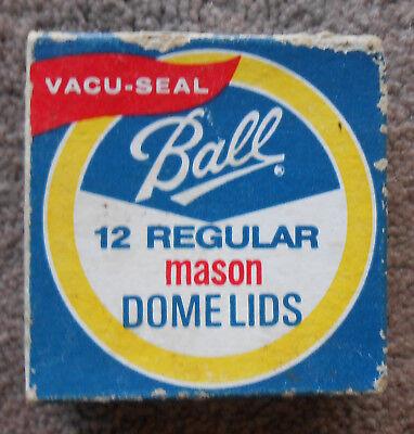 Ball VacuSeal Mason Regular Dome Lid 12 pc. White Inner Coating Unopened Vintage for sale  Banner Elk