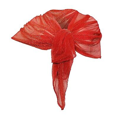 Meches Brillante Elegante Sciarpa Scialle Foulard ,Donna Stola Rosso dorato