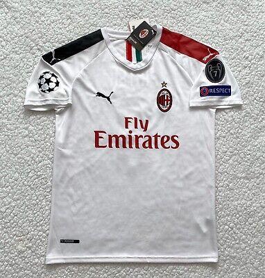 AC Milan Krzysztof Piatek New Men's Away White Soccer Jersey - Size M