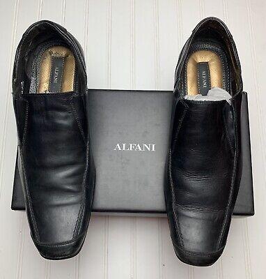 ALFANI Metro Men's Dress Shoe Upper Leather Lower Steel Black Hand Made Size 12