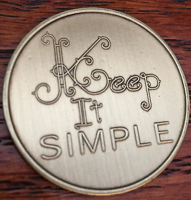 Keep It Simple Serenity Prayer Bronze Recovery Medallion Coin AA NA Chip for sale  Saint Augustine