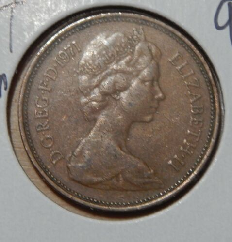 1971 Great Britain 2 Pence KM#916