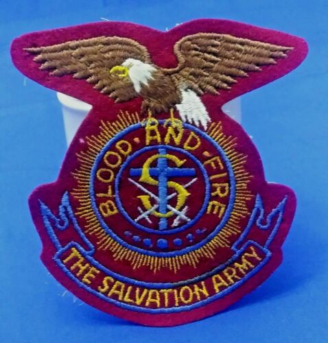 SALVATION ARMY EMBROIDERED 4 INCH USA EAGLE CREST PATCH