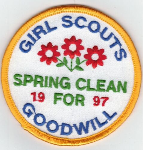GIRL SCOUTS-SPRING CLEAN FOR GOODWILL-1997- PATCH-THREE INCHES WIDTH #2