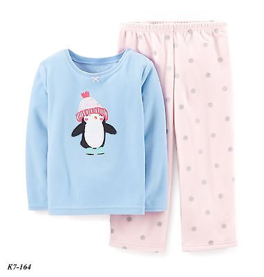 Carter's NWT Toddler Girls' Penguin Fleece  Pajama Pj Set Size 2T - MSRP 24.00