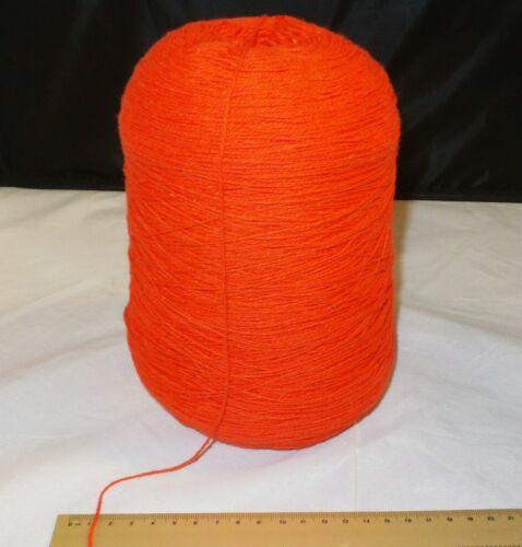 15.8oz Acrylic Machine Knitting Cone / Spool - RED - Thin Yarn