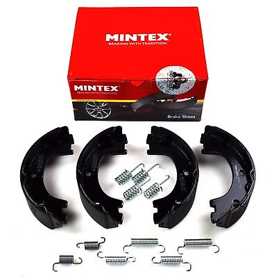 MINTEX REAR PARKING BRAKE SHOES SET MERCEDES BENZ VW MFR602 (REAL IMAGE OF PART)