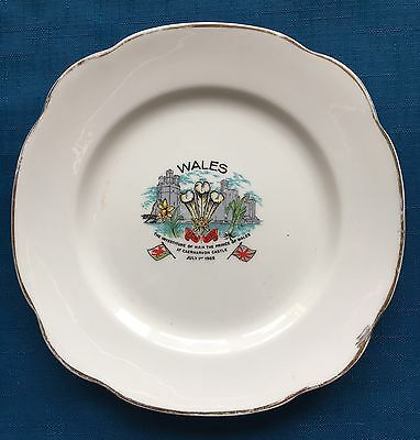 Prince Of Wales Commemorative Investiture Plate 1969 Caernarvon