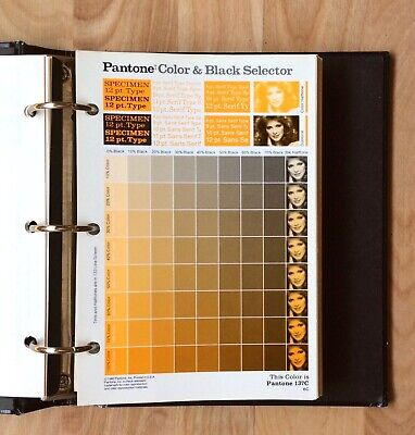Pantone Color Black Selector For Coated Uncoated Stock 3-ring Binder