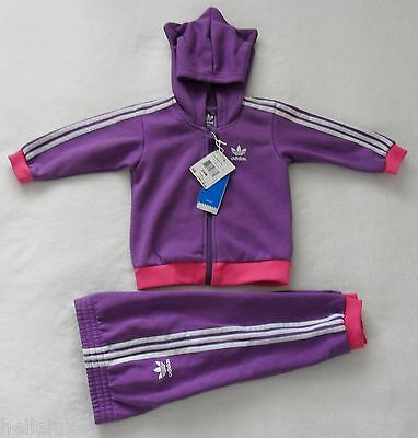 Adidas HOODIE LITTLE MONSTER  Track Suit sweat shirt Jacket-Pant firebird~Sz 12M Little Monster Pant