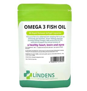 Omega 3 fish oil 30 dha epa 90 capsules high strength for Best quality fish oil
