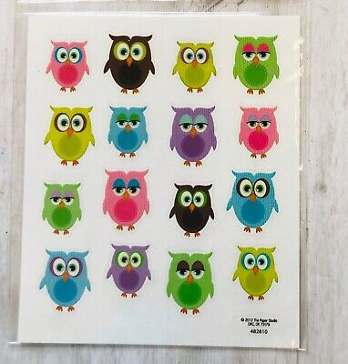 2 Sheets Colorful Woodland Owl Stickers Papercraft Planner Supply Envelope Seal - Woodland Owl