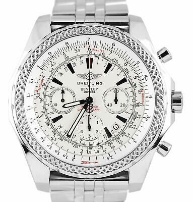 Breitling Bentley Chronograph Special Edition 48mm White A25362 Stainless Watch