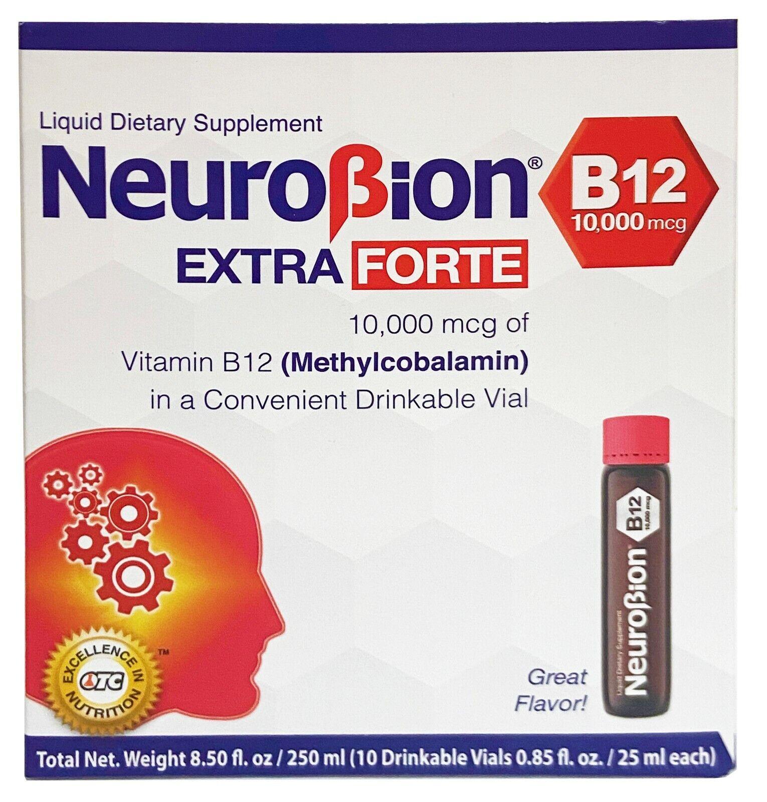 NEUROBION B12 10,000 mcg EXTRA FORTE 10 ORAL VIALS   Exp 12/2022