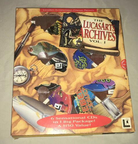 Vintage PC computer GAME The LUCAS ARTS ARCHIVES Vol 1 6 CDs MS Dos