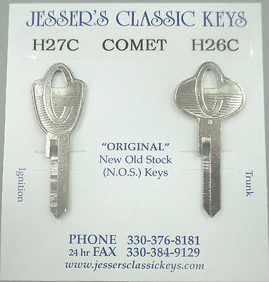 Car & Truck Key Blanks 1759P 1959 to 1963 Key Blank for Vintage ...