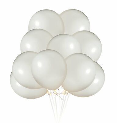 110 Pack ProCore Products Premium 12 inch White Metallic Party Balloons...