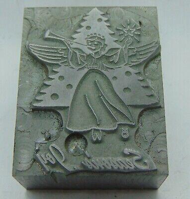 Vintage Printing Letterpress Printers Block Seasons Joy Angle All Metal