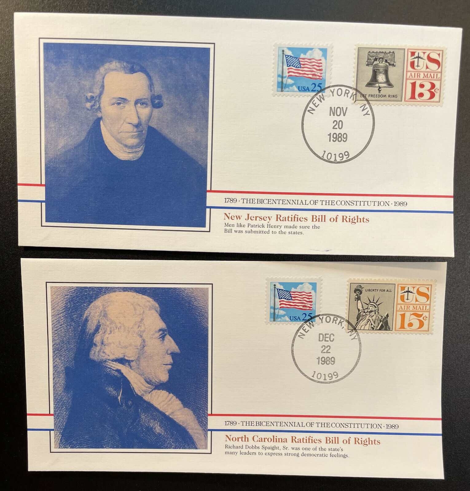 US 2278,C62,C63 On Covers - Bicentennial Of Constitution 1787-1987 BIC77-78  - $2.25